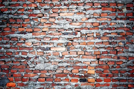 uncoated: Bricks wall with cement, texture