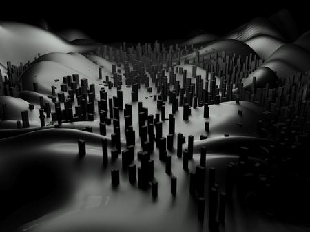 urbanized: 3d futuristic cityscape, abstract landscape