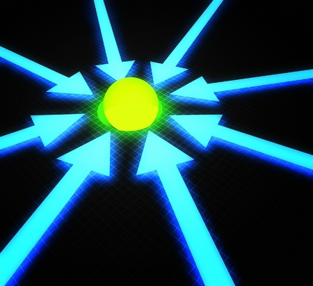 glowing ball: 3d business concept of success, glowing ball Stock Photo