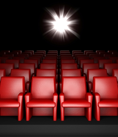 3d empty cinema hall with auditorium photo