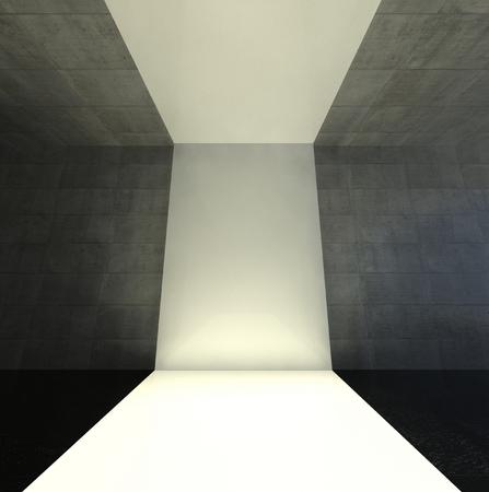 3d modern interior, empty stage Stock Photo