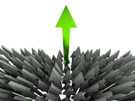3d success arrow concept photo