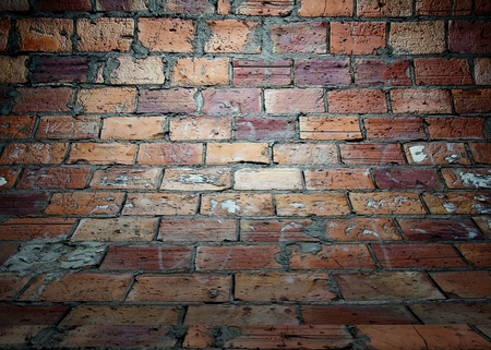 uncoated: Brick wall texture in empty interior