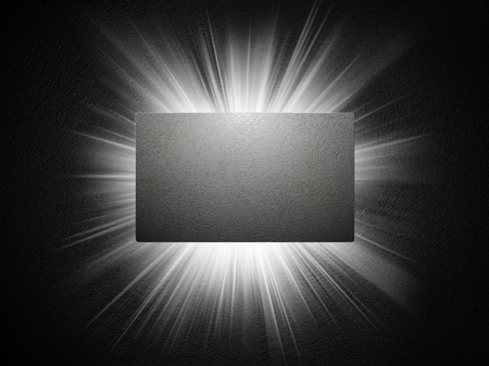 Concrete texture of business card, 3d presentation photo