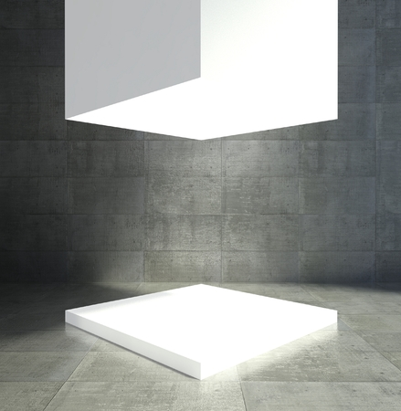 Empty showcase, 3d exhibition space Stok Fotoğraf