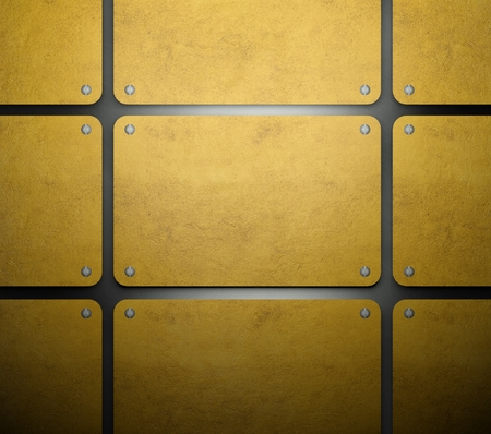 Gold template, set of metal card background photo