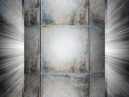 Ceramic tiles texture, 3d presentation photo