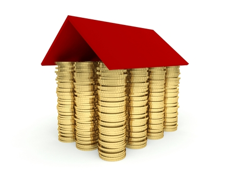 investing: Mortgage concept 3d, investing in real estate