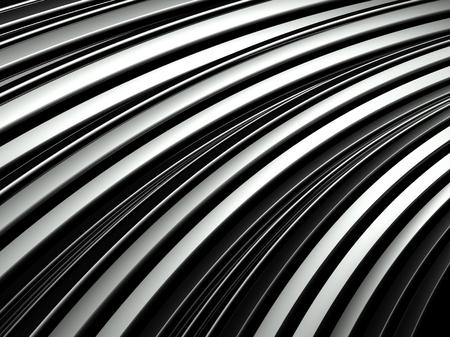 decorration: 3d wavy aluminium background, abstract silver pattern