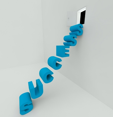 Stairs to success 3d render, concept photo