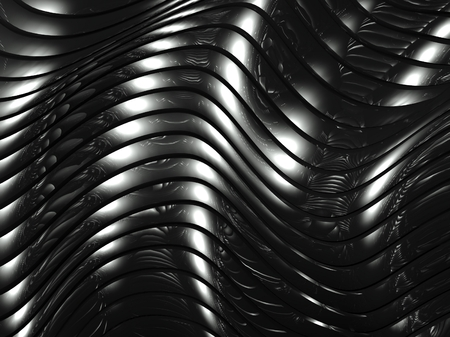 3d wavy aluminium background, abstract silver pattern