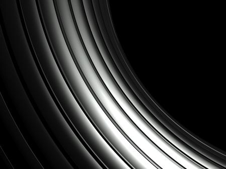 decorration: 3d wavy aluminium background, copy space Stock Photo