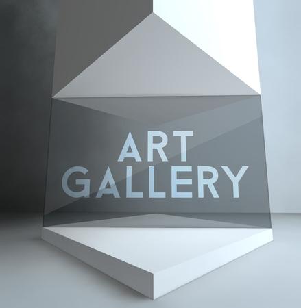Art gallery inscription in showcase photo
