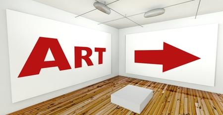 frame on wall: Arte sul muro telaio in galleria interni