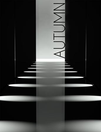 Dark design, fashion runway autumn collection background photo