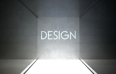 Design in glass showcase for exhibit photo