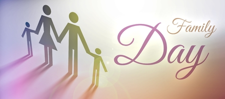 Family Day concept, creative illustration