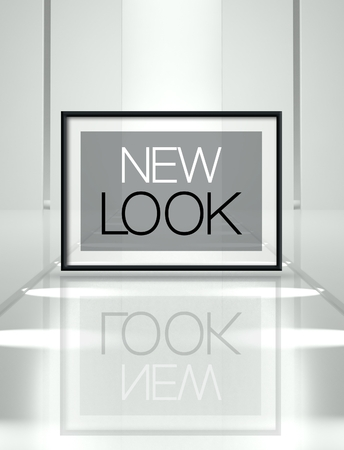 new look: Fashion new look concept on empty runway