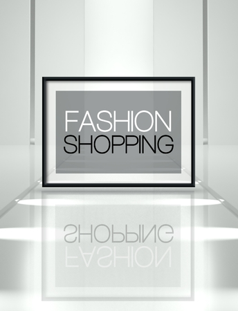stage door: Fashion shopping concept on empty runway