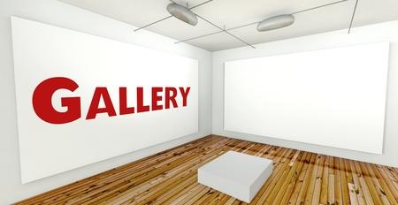 frame on wall: Galleria d'arte sulla parete struttura in interni