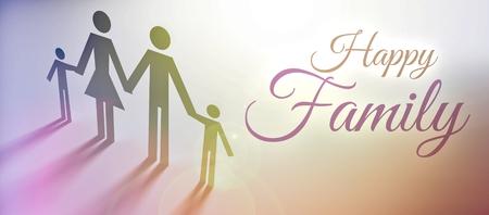 happy family concept: Happy Family concept, creative illustration Stock Photo