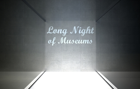 long night: Long night of museums in glass showcase for exhibit