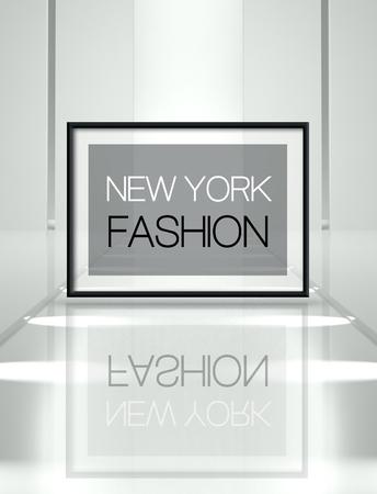 New York fashion concept on empty runway Stock Photo