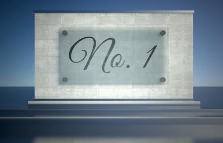 primer lugar: N�mero 1 en primer lugar la muestra en pedestal podio de piedra