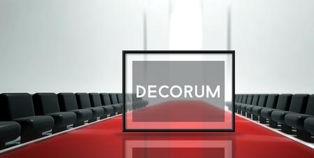 decorum: Red carpet runway, Fashion Decorum