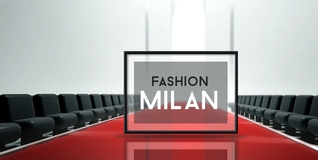 Red carpet runway, Fashion Milan photo