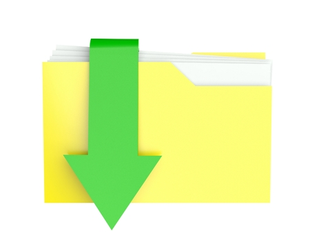 3d folder icon with arrow photo