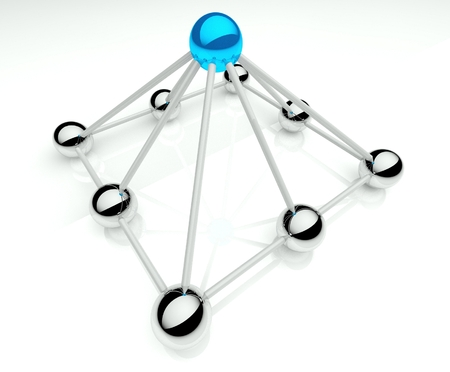 Hierarchy in business, 3d network communication photo