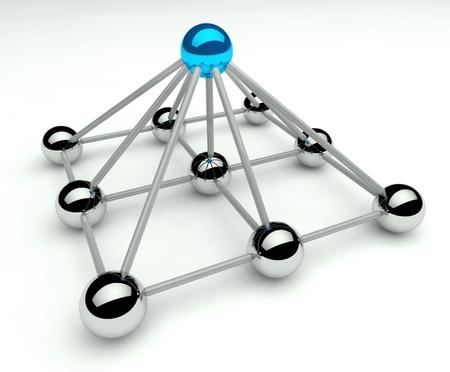階層および管理、3 d piramid レベル