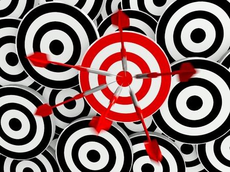 Success business target Stock Photo