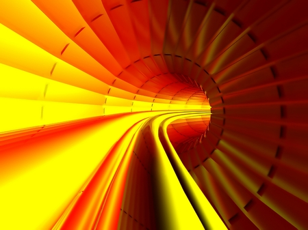 deliverables: Gas, Energy, Electricity transmission, Stream in pipe interior, Hot tunnel  Stock Photo