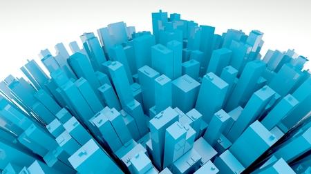 urbanized: 3d futuristic city, planet view
