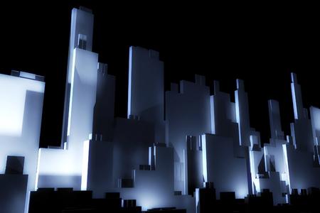 company building: 3d city skyscrapers