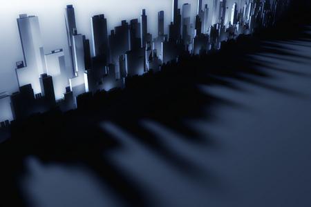 3d city skyscrapers photo