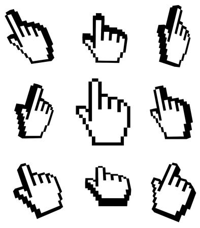 3d Hand cursors set photo