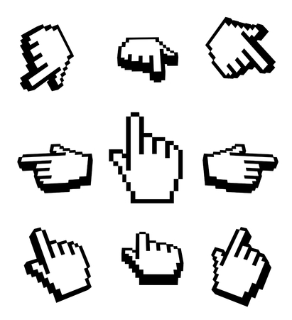 3d Hand cursors navigation set photo