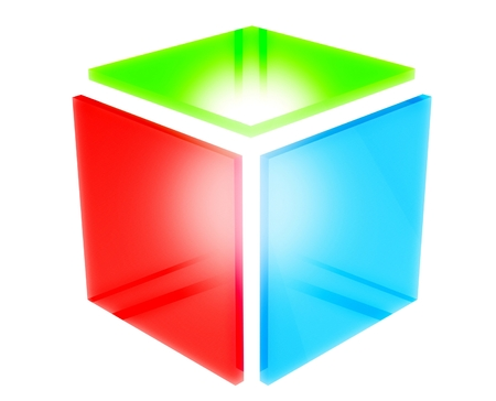 3d rgb square icon photo