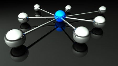 Abstract conception of network and communication 3d photo