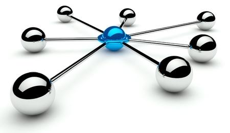 Abstracte conceptie van netwerk en communicatie 3d