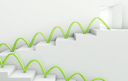 Stairs Way to Success, 3d business concept photo