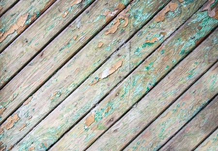 chabby: Old shabby wooden planks with cracked paint Stock Photo
