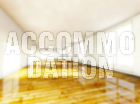 accommodation: Accommodation home creative conceptual illustration