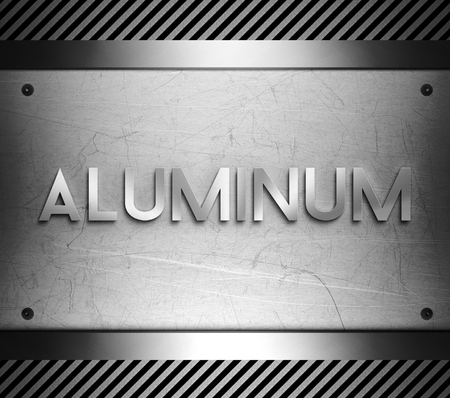 nickel panel: Aluminum concept on steel plate background