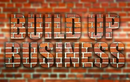 build up: Build up business made of bricks creative conceptual illustration Stock Photo