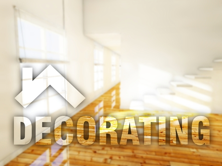 home decorating: Decorating home, creative conceptual illustration