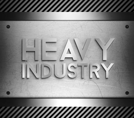 piastra acciaio: Heavy concetto di industria su piastra in acciaio sfondo